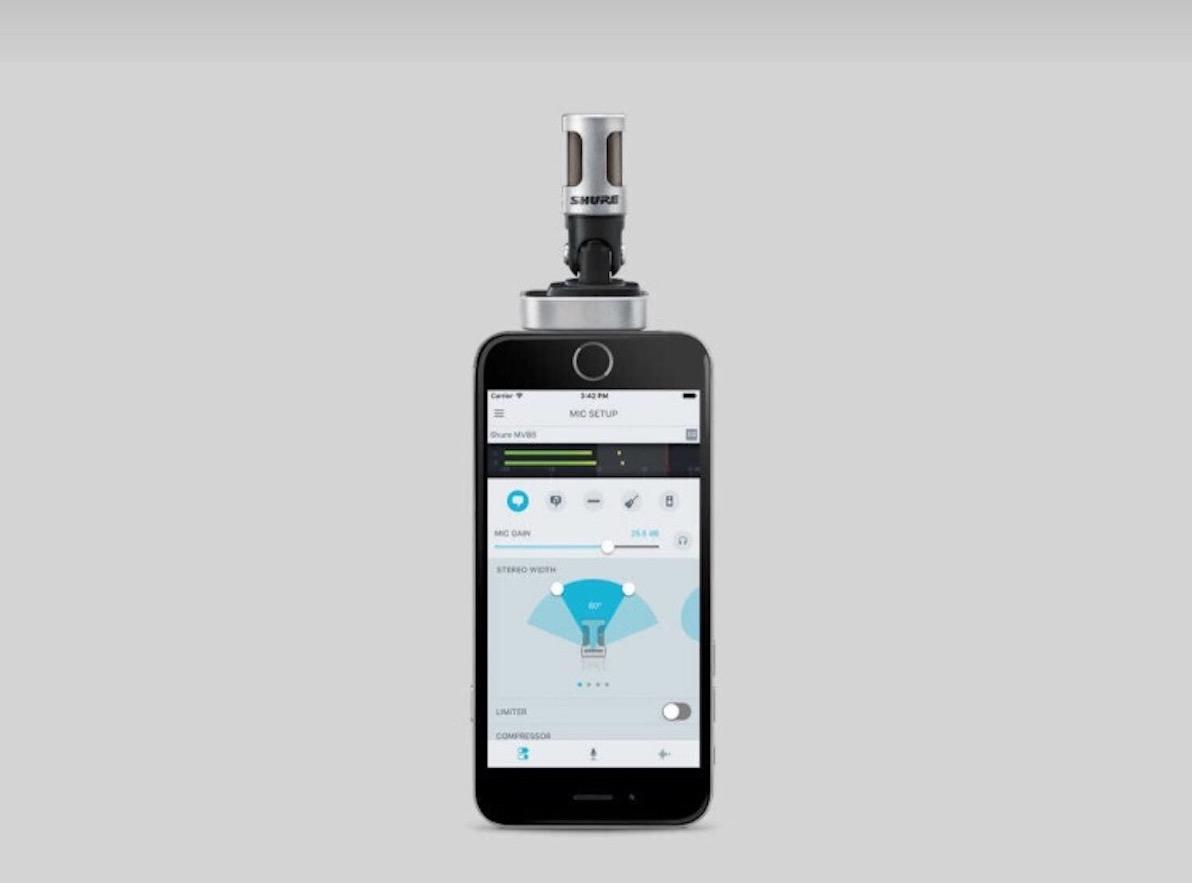 【レンタル】SHURE iPhone/iPad用 MV88ステレオ・コンデンサー・マイクロホン無料レンタル!