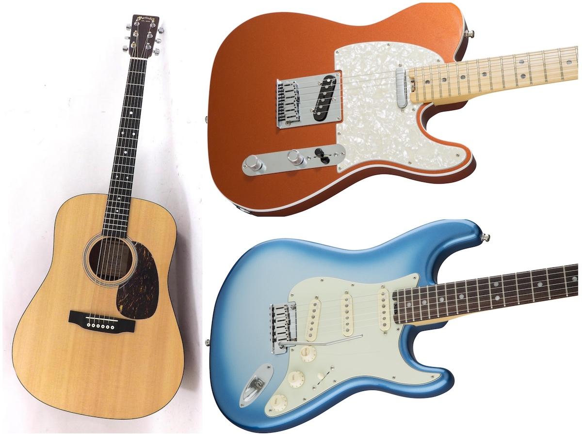 【レンタル】Fender American Elite、Martin D16 (FISHMAN P.U) 恵比寿店で大好評レンタル中!