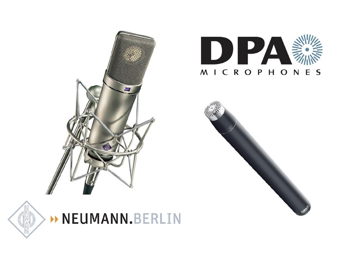 【レンタル機材情報】 NEUMANN&DPA Microphonesのマイクはどんな音?