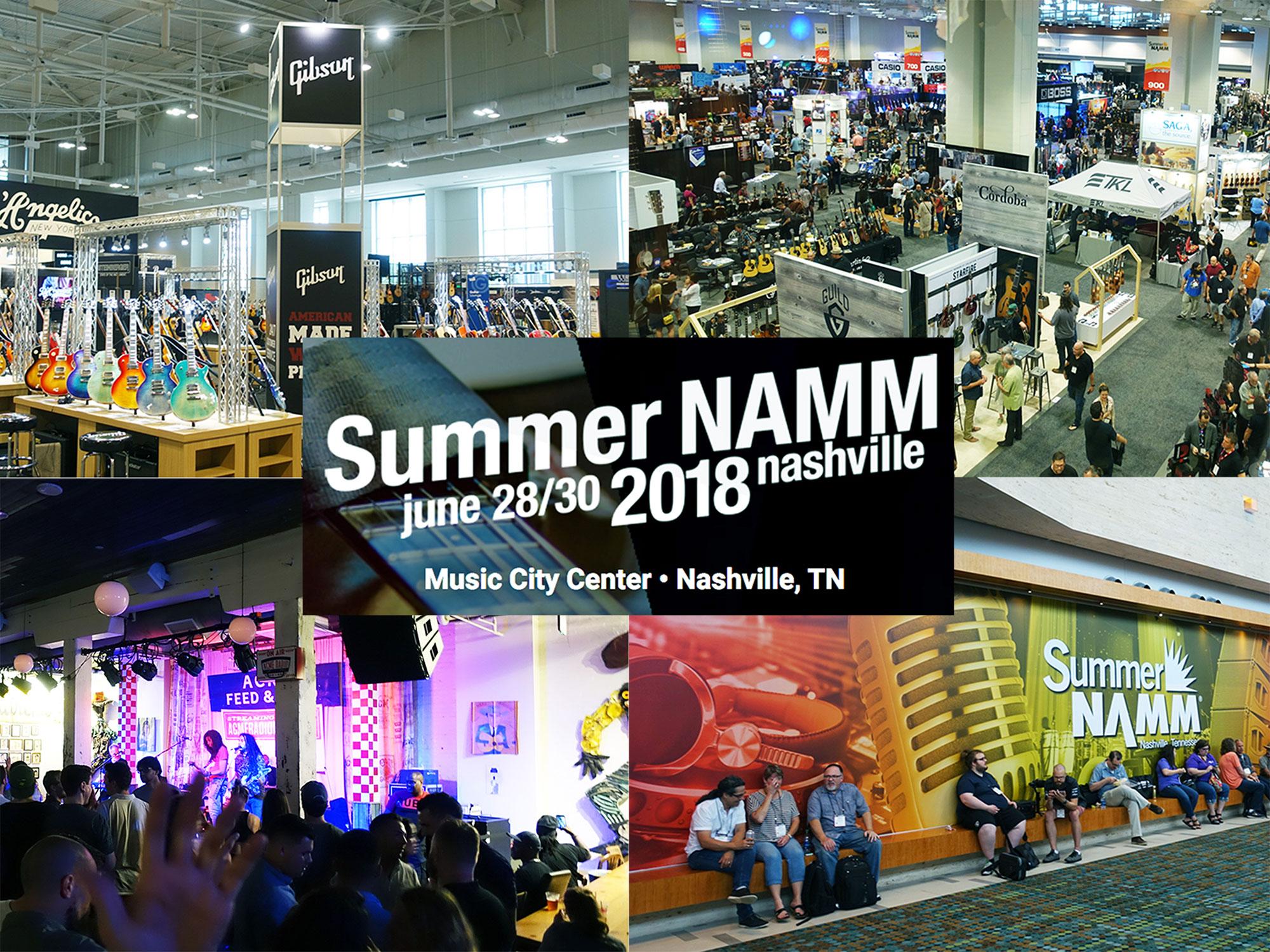 【世界の楽器見本市】Summer NAMM 2018に行ってきました。ナムショーレポート